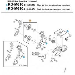 Kółka przerzutki RDM593...